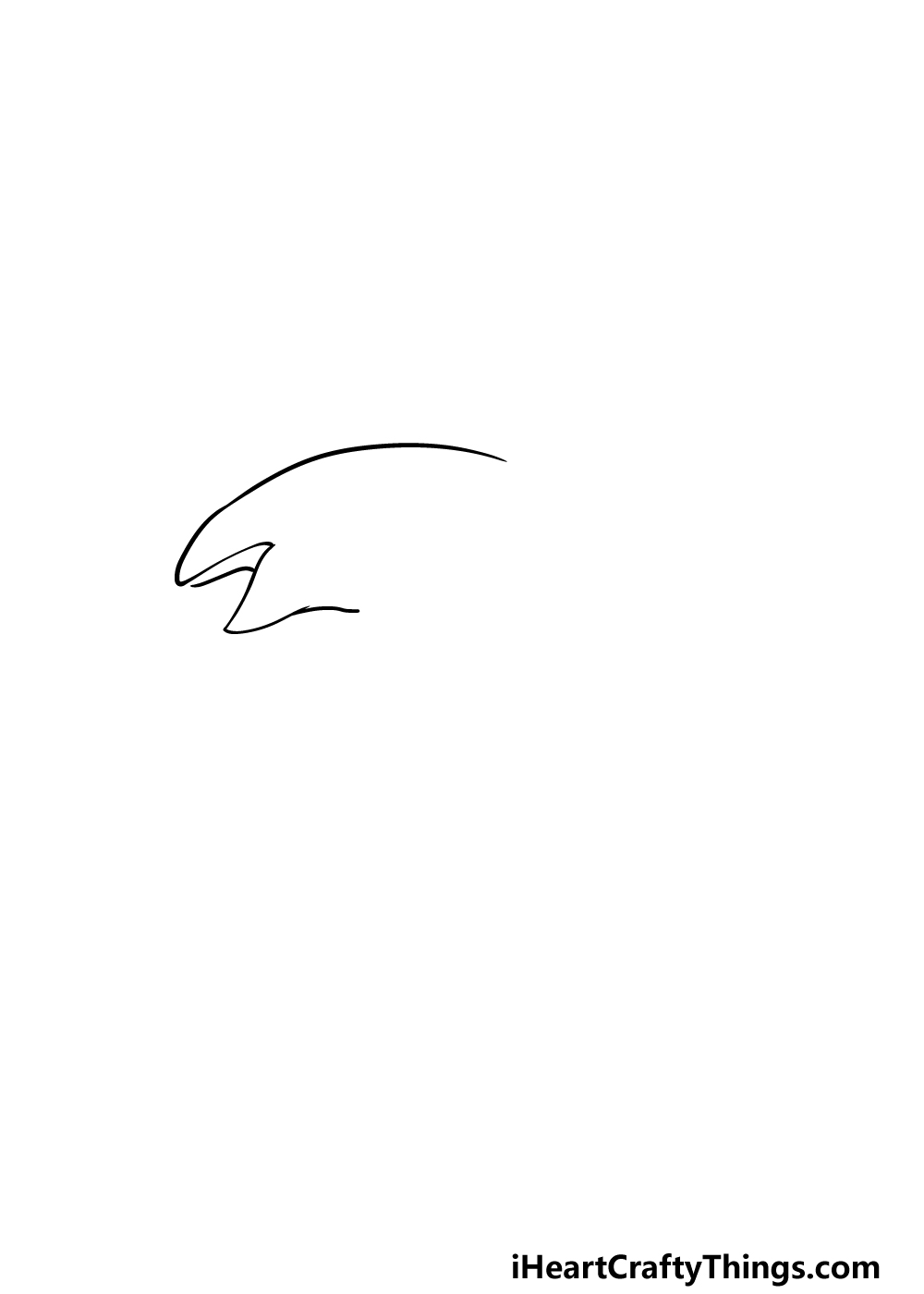 drawing an orca step 1