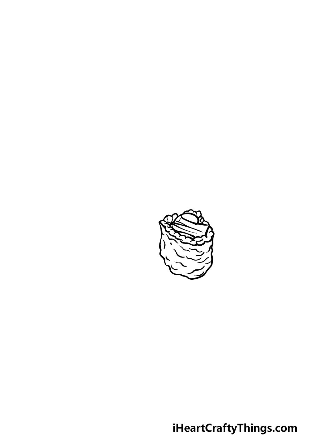 drawing sushi step 1