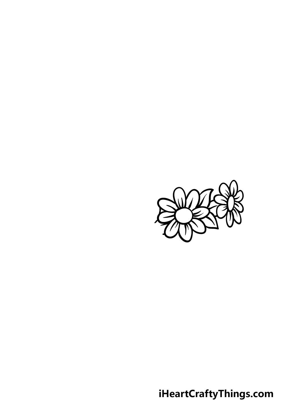 drawing a flower crown step 1
