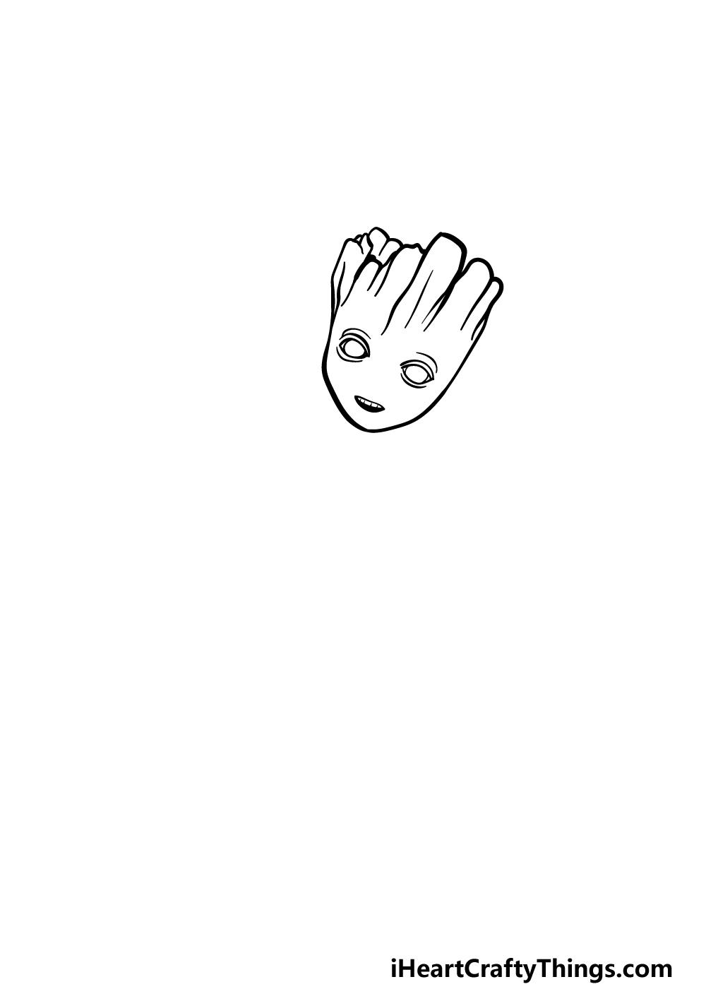 drawing Baby Groot step 1
