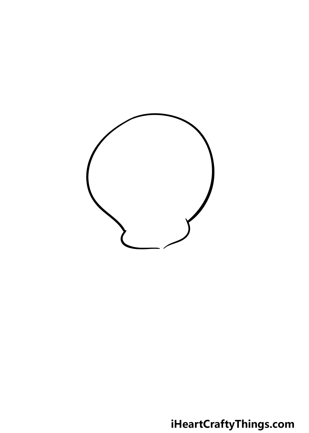 drawing Tweety Bird step 1