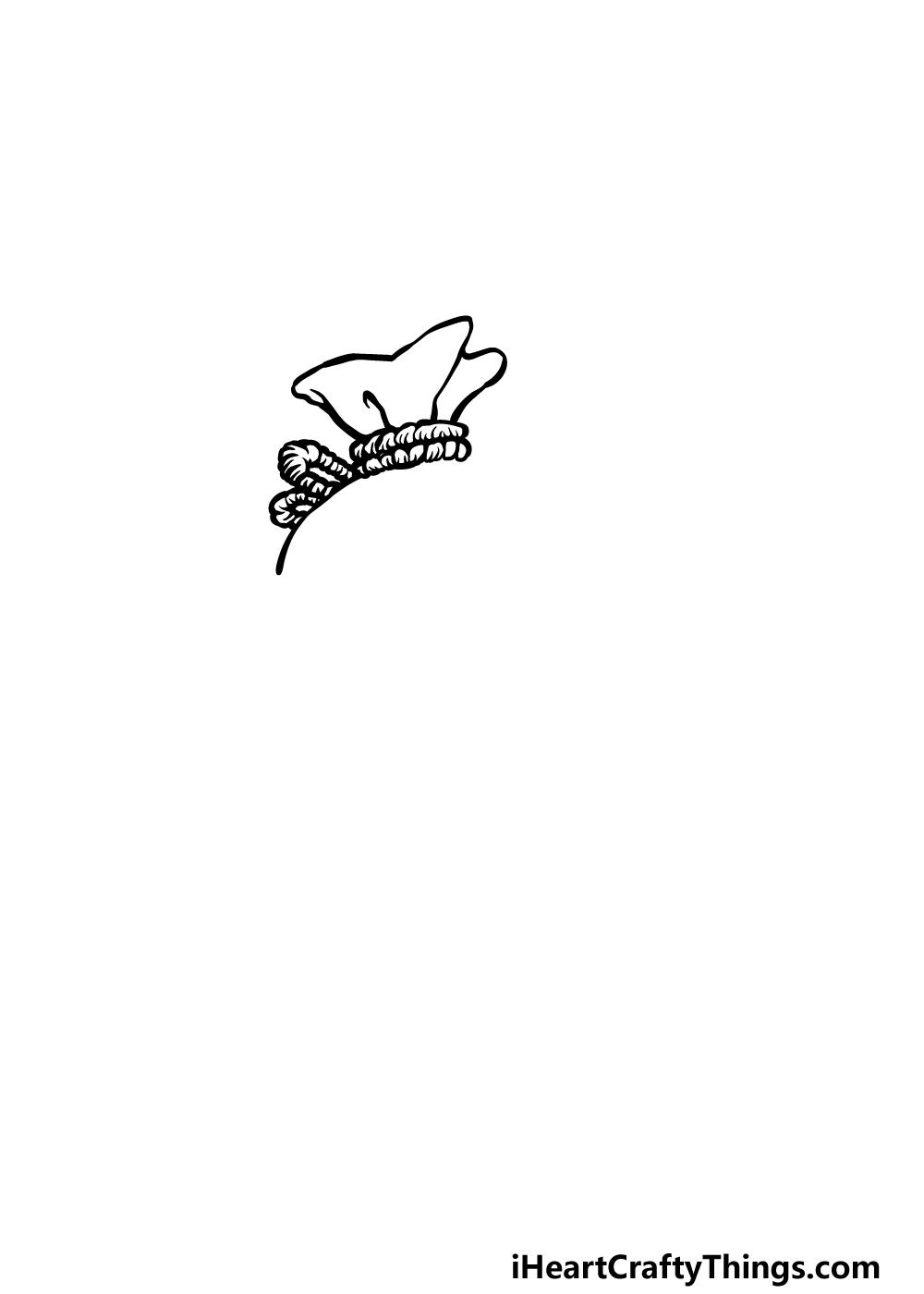 drawing a money bag step 1