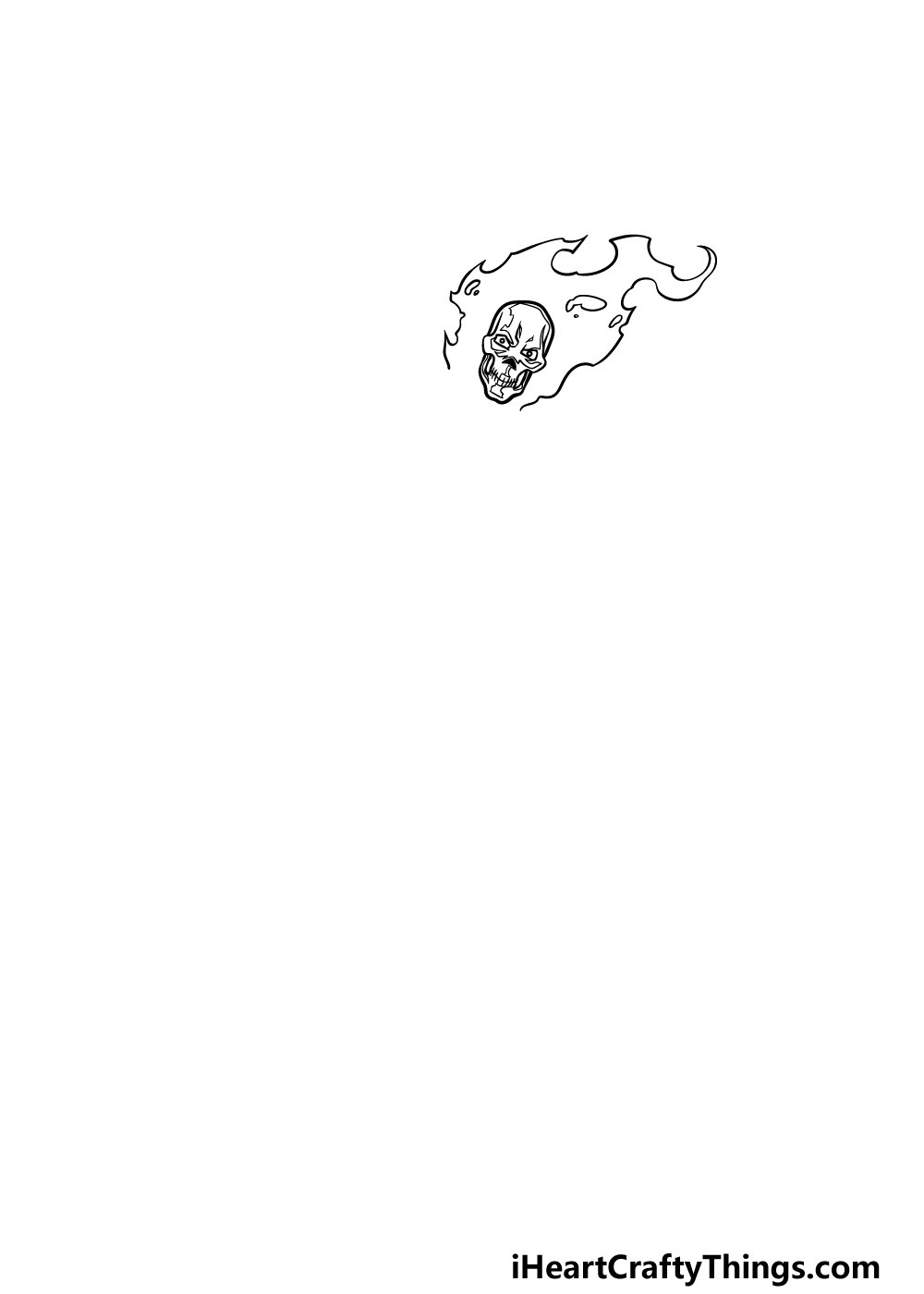 drawing Ghost Rider step 1