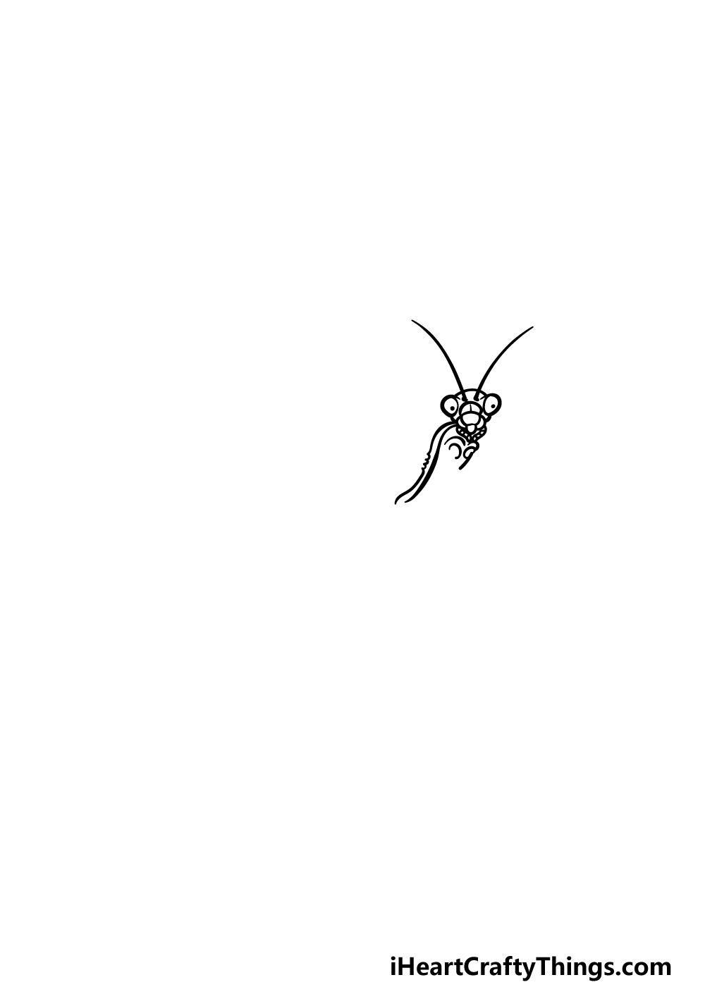 drawing an insect step 1