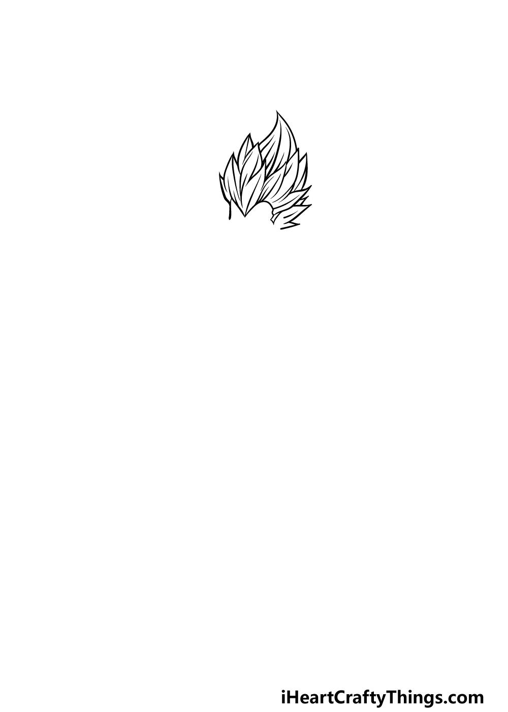 drawing Vegeta step 1