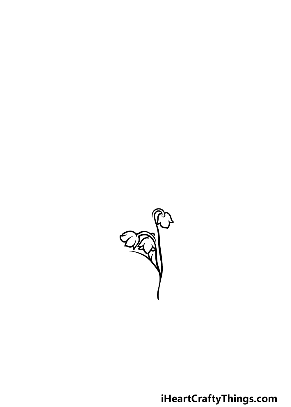 drawing lily of the valley step 1