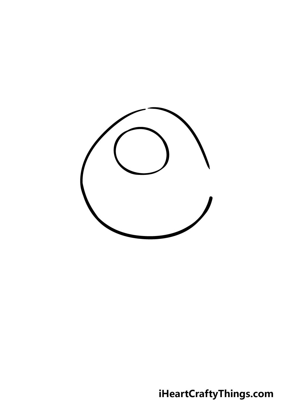 drawing Mike Wazowski step 1