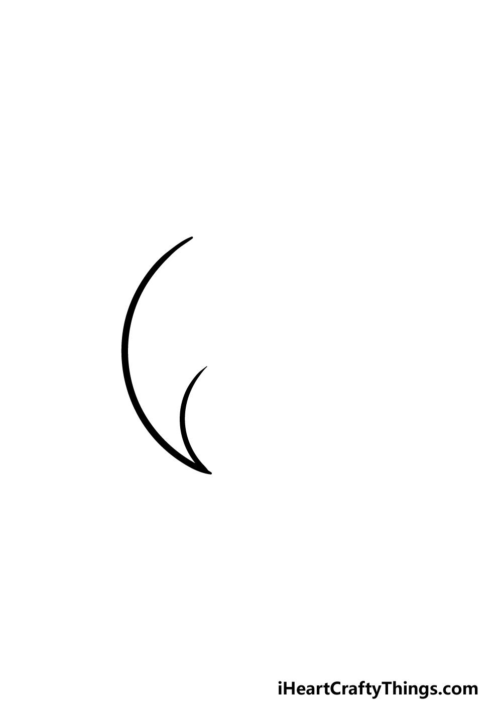 drawing Yin and Yang step 1