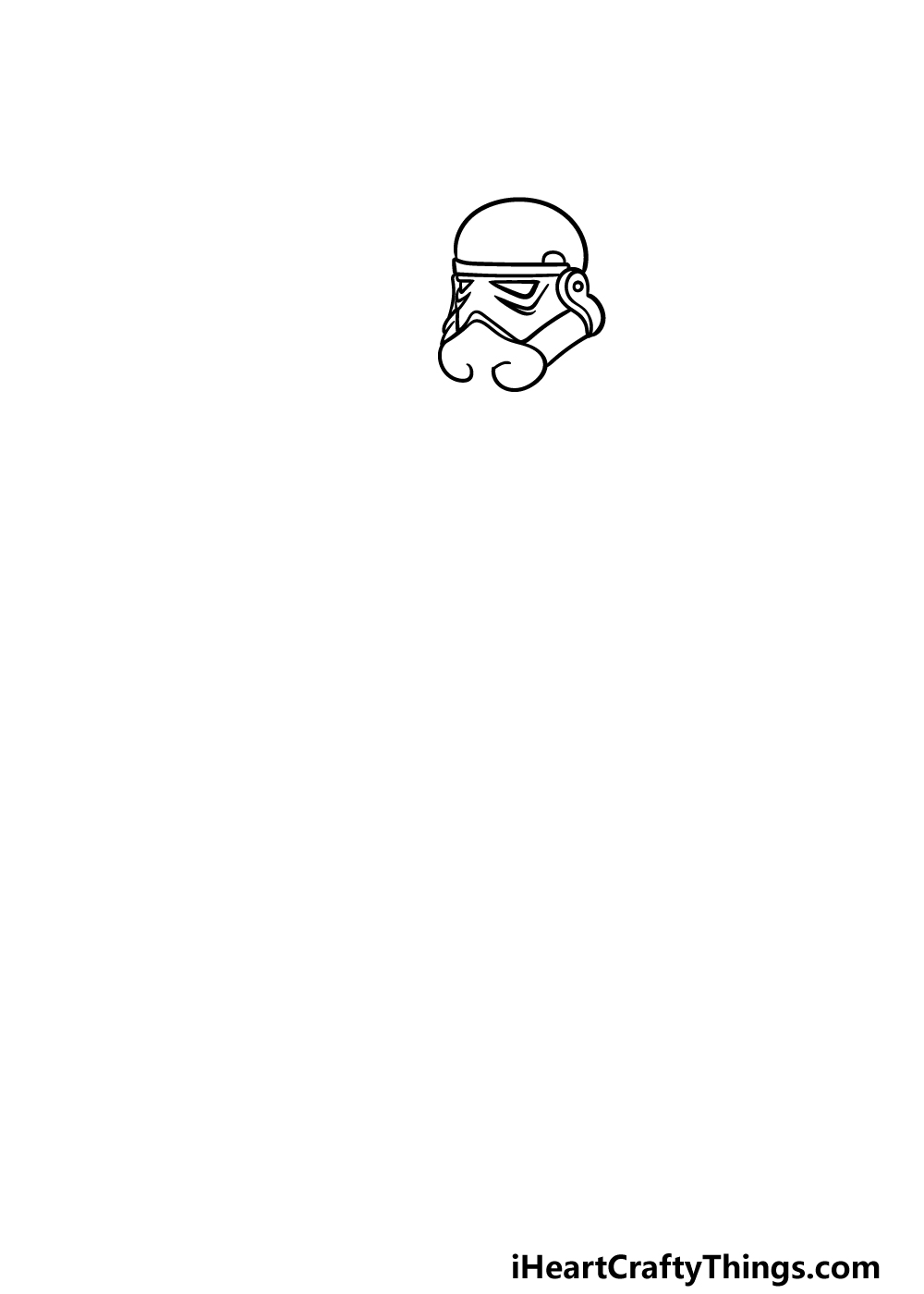 drawing a Stormtrooper step 1