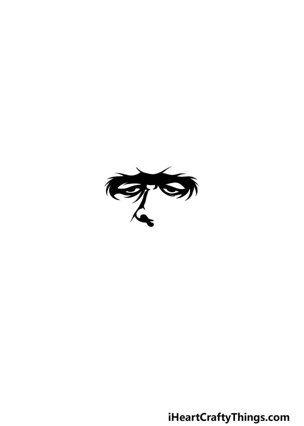 Drawing Frankenstein step 1