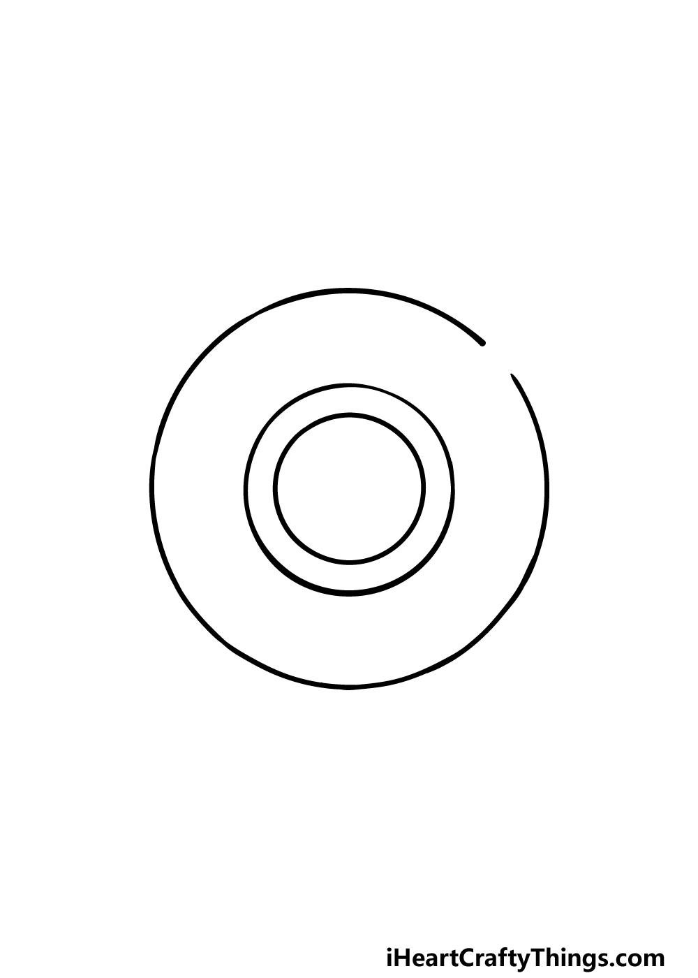 drawing a shield step 1