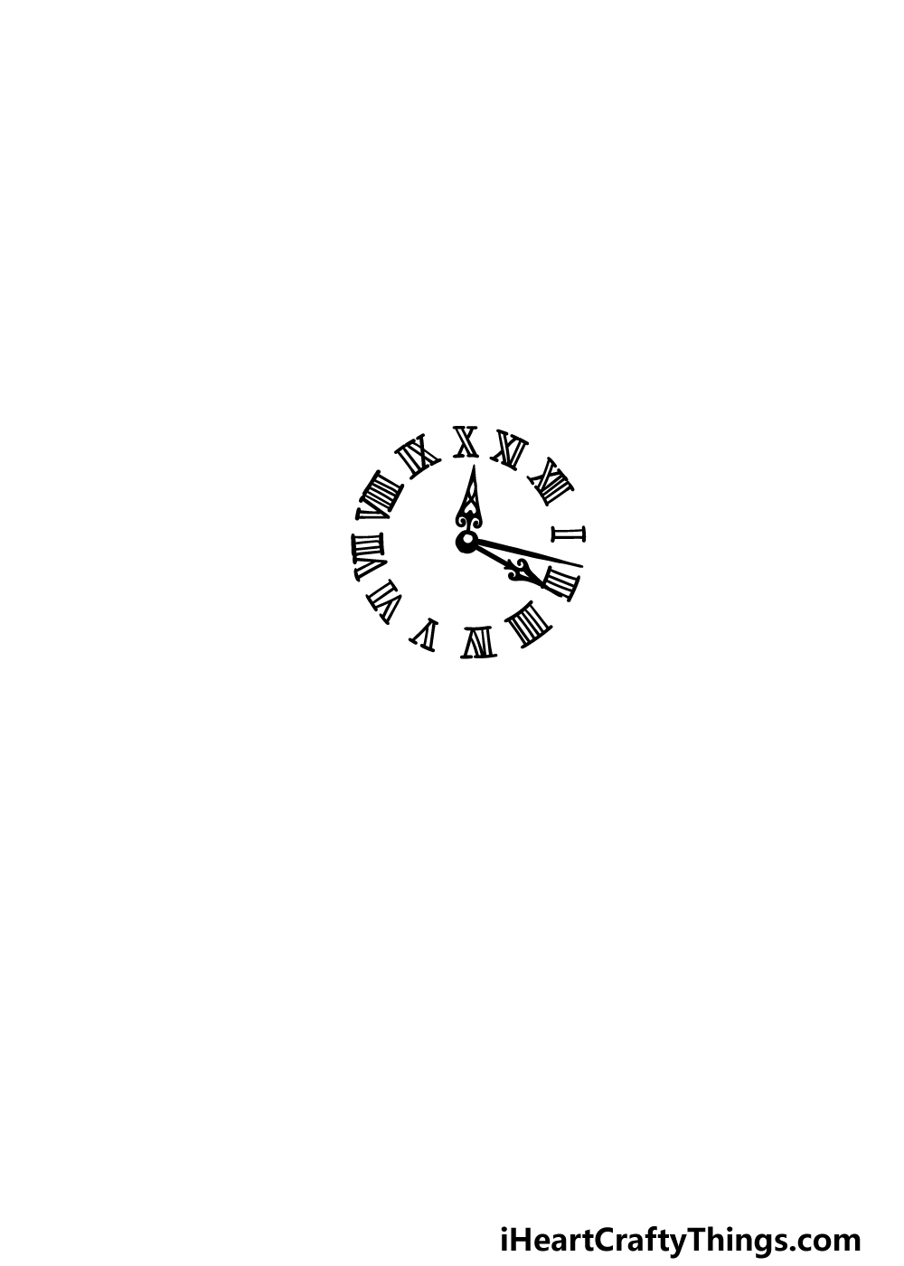 drawing a pocket watch step 1