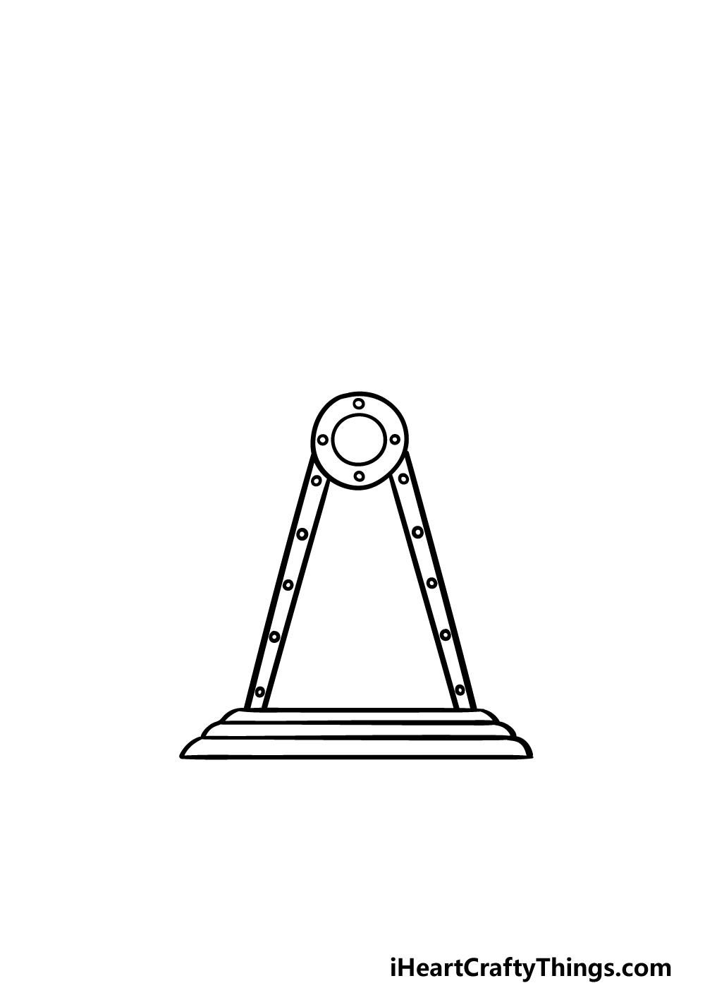 drawing Ferris Wheel step 1