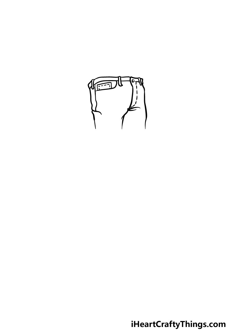drawing jeans step 1