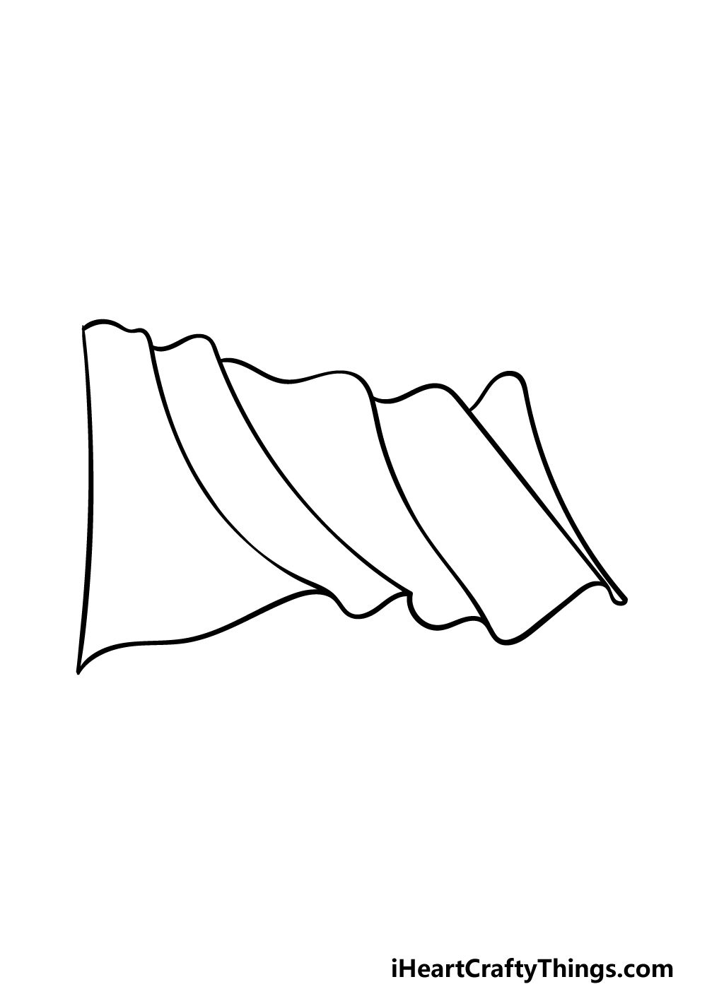 drawing Mexican flag step 2