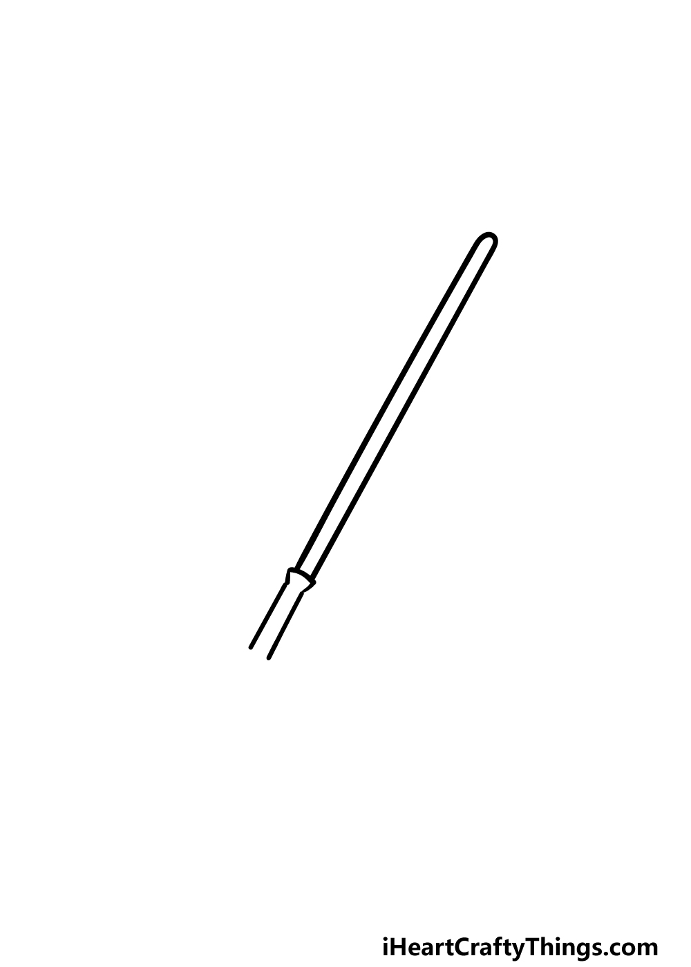 drawing a lightsaber step 2