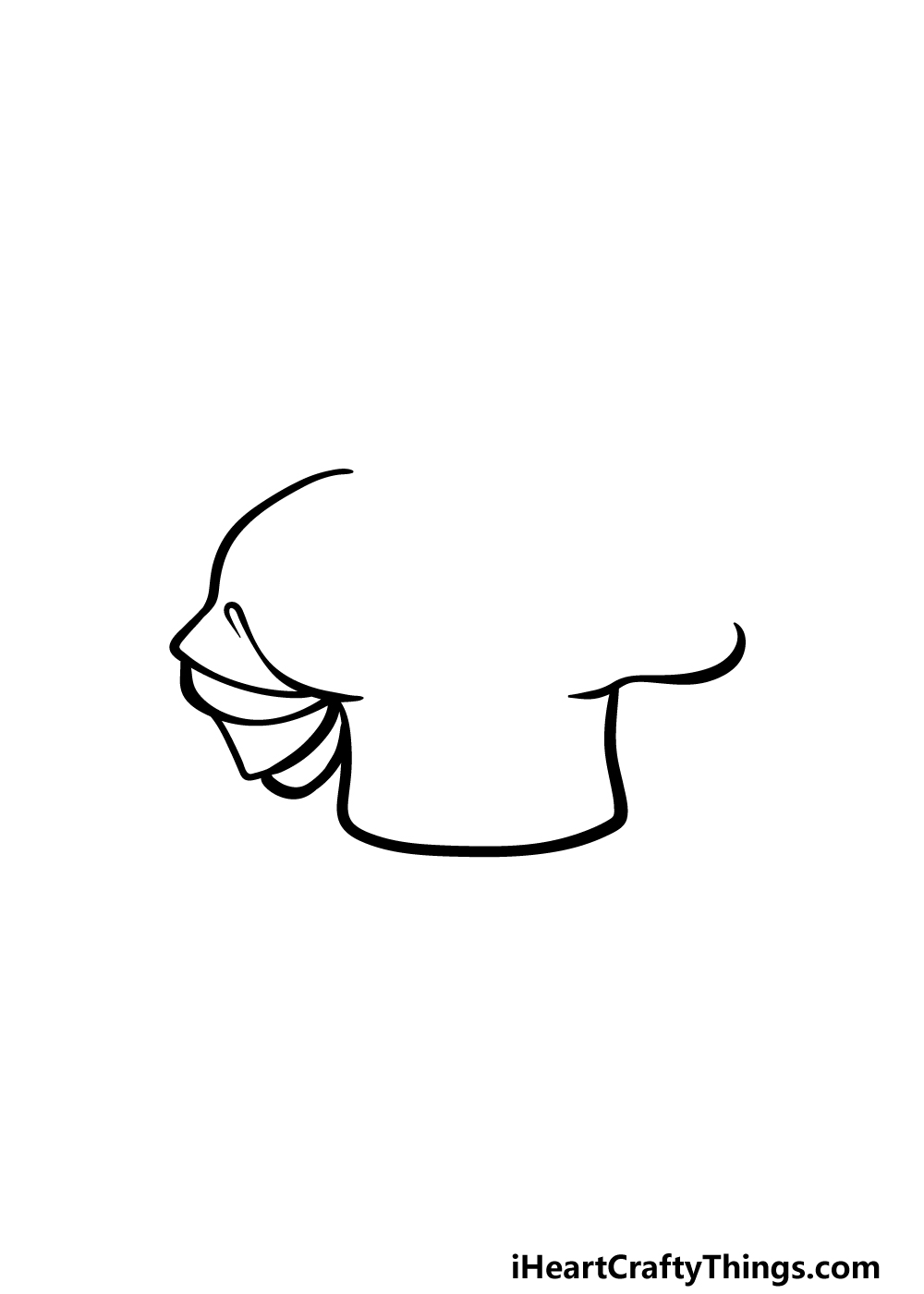 drawing chef's hat step 2