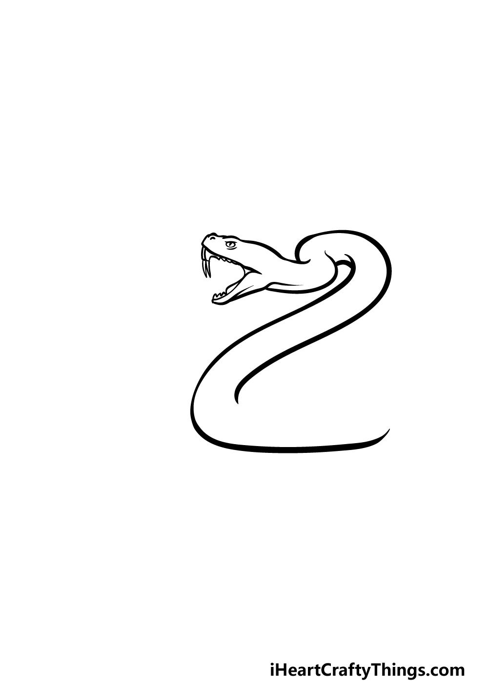 drawing a rattlesnake step 2