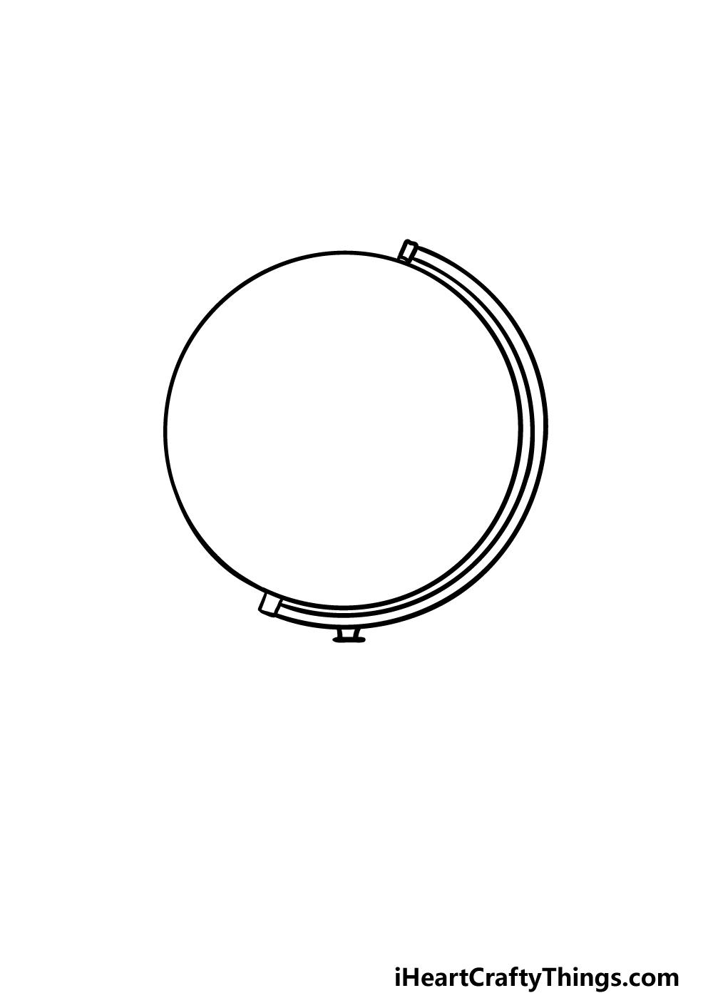 drawing a globe step 2