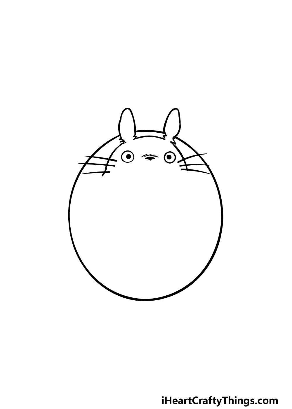 drawing Totoro step 2