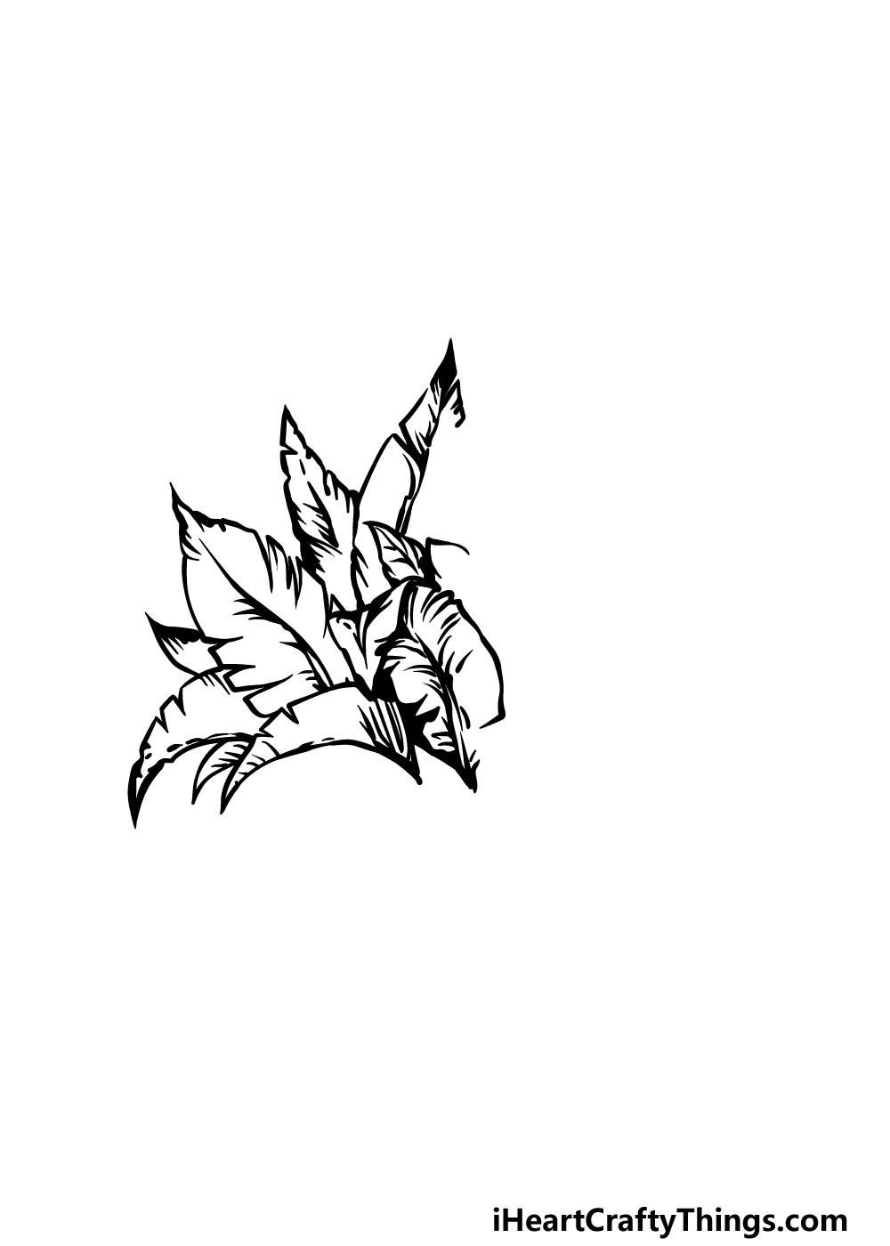 drawing a bush step 2