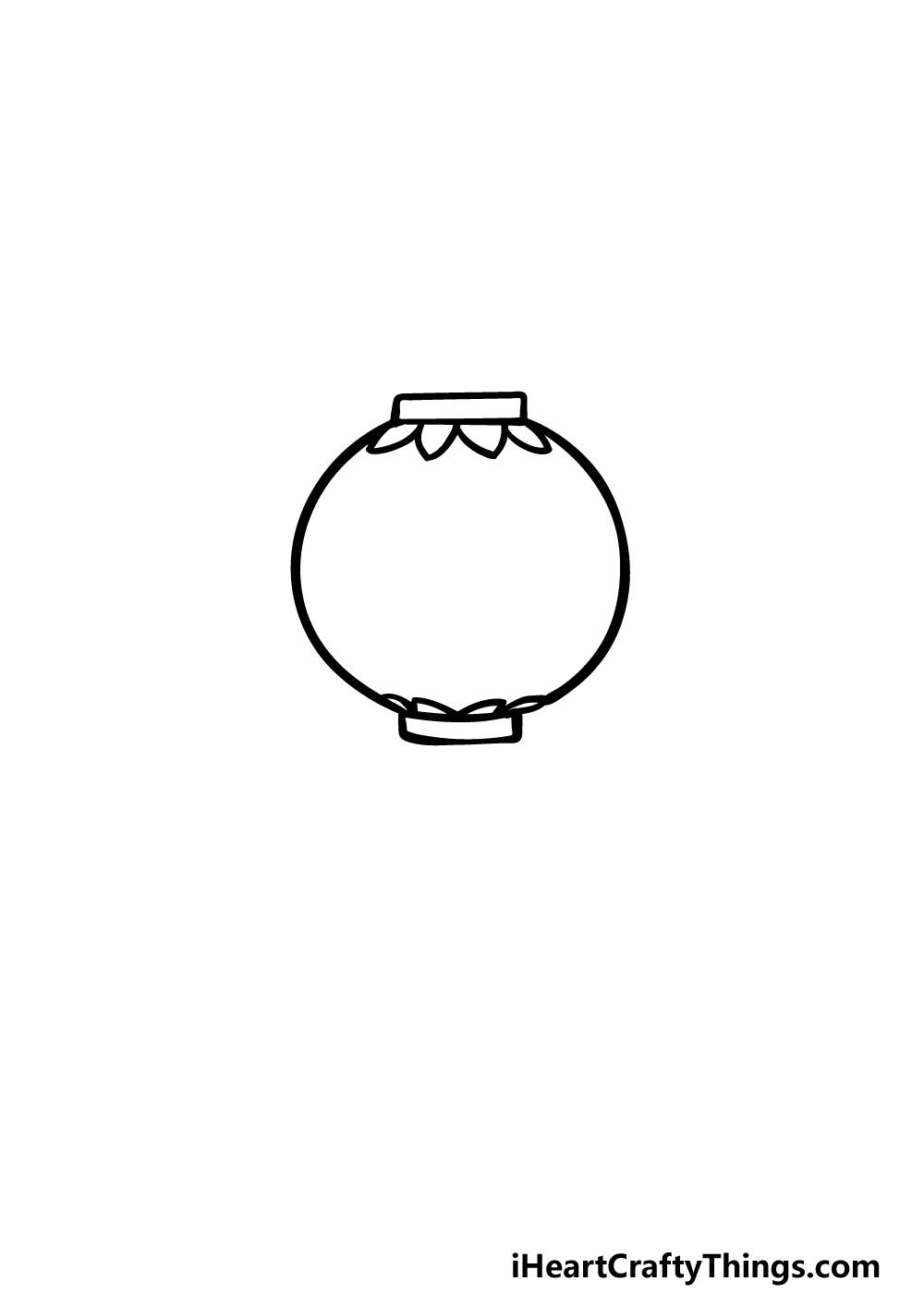 drawing a lantern step 2