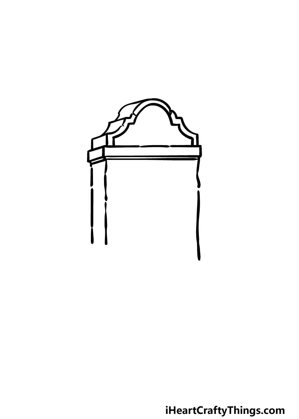 drawing a tombstone step 2