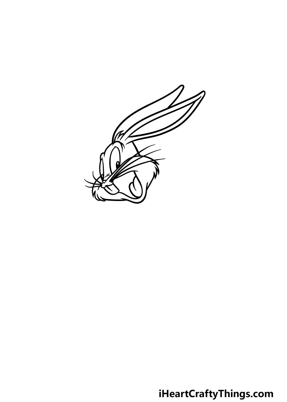 drawing Bugs Bunny step 2