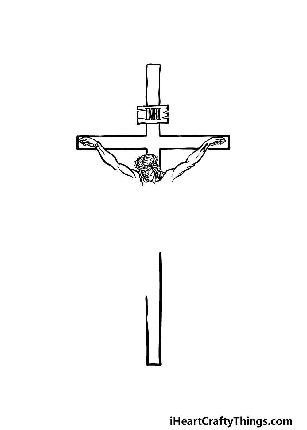 drawing Jesus On The Cross step 2