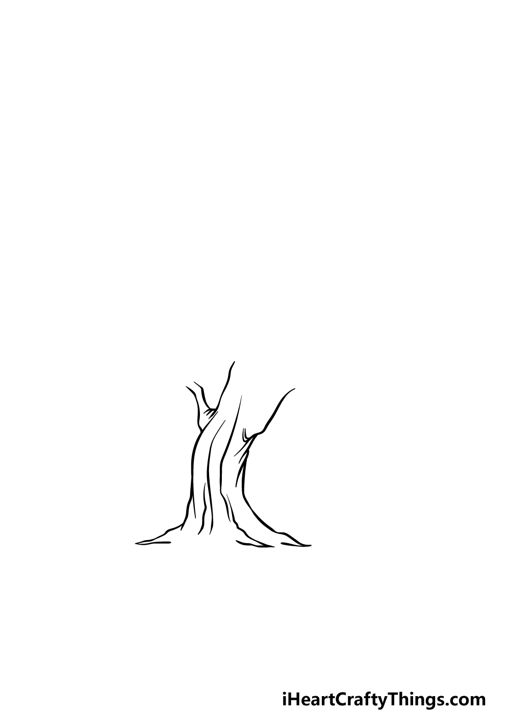 drawing an oak tree step 2