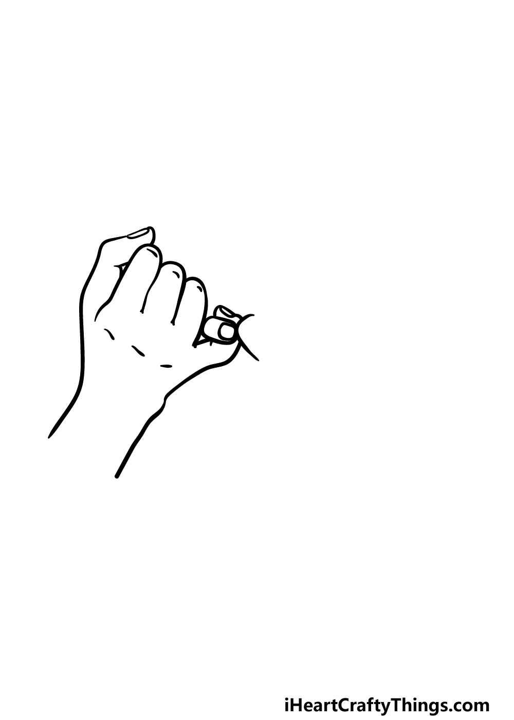 drawing a Pinky Promise step 2