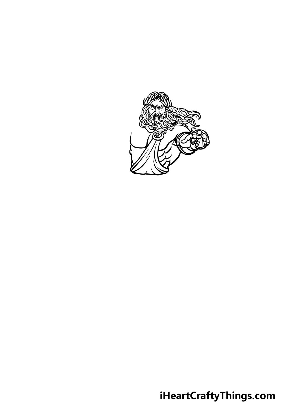 drawing Zeus step 2