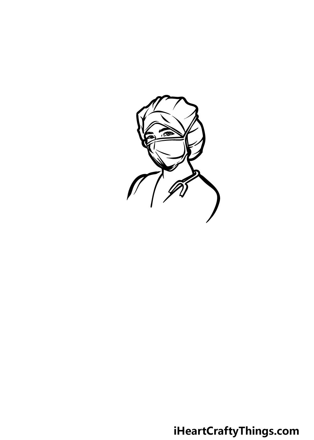 drawing a nurse step 2