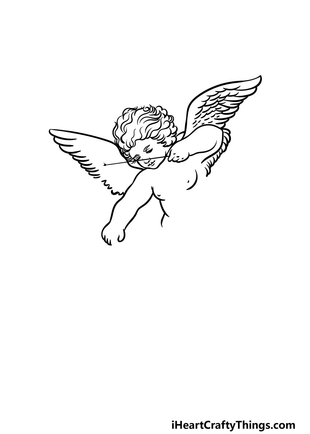 drawing cupid step 2