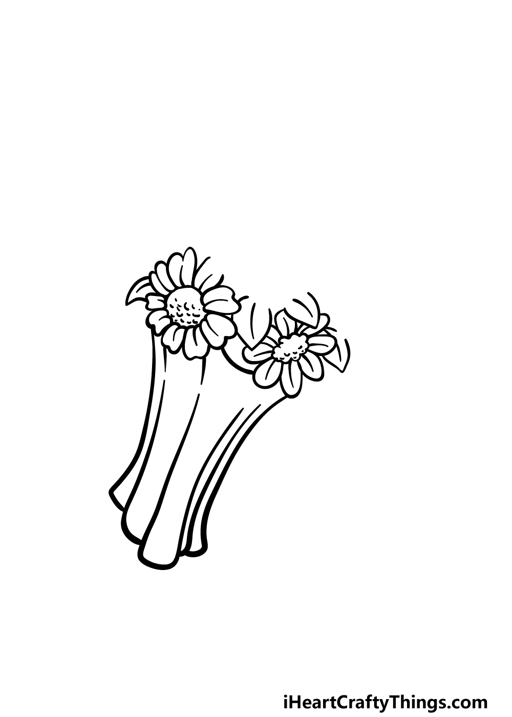 drawing a flower bouquet step 2