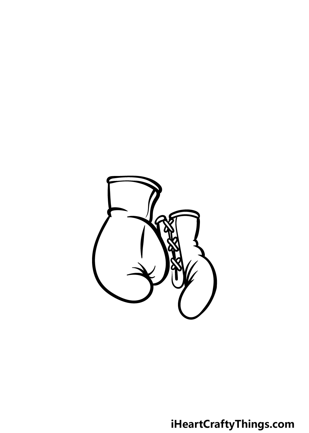 drawing boxing gloves step 2