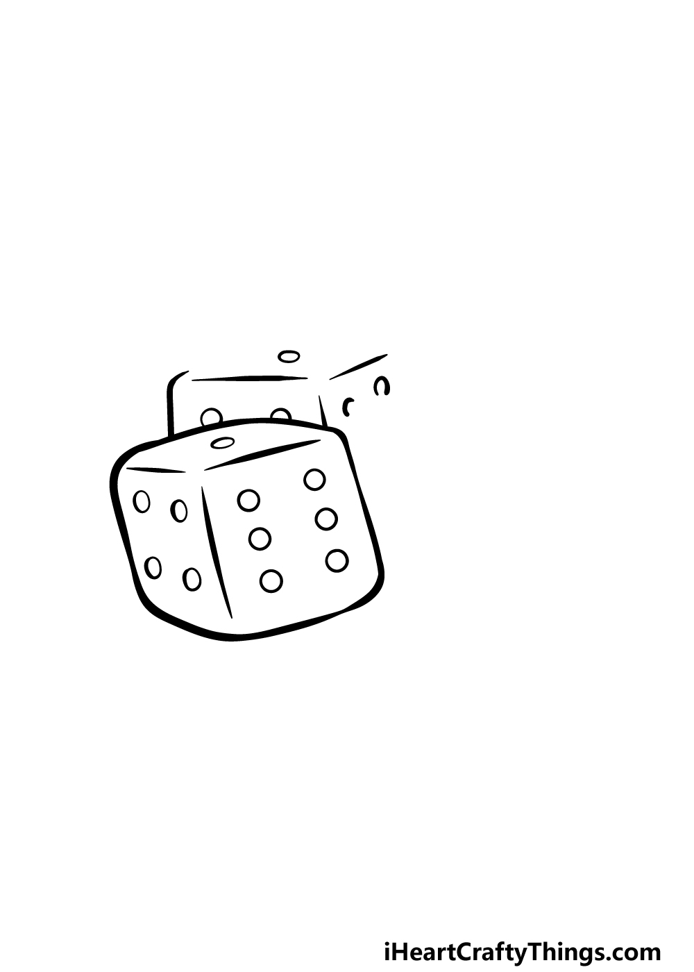drawing the dice step 2