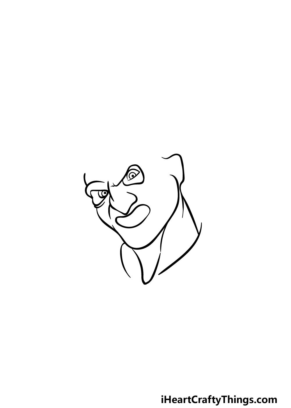 Drawing Freddy Krueger step 2