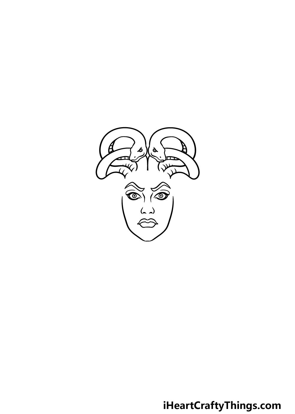 drawing Medusa step 2