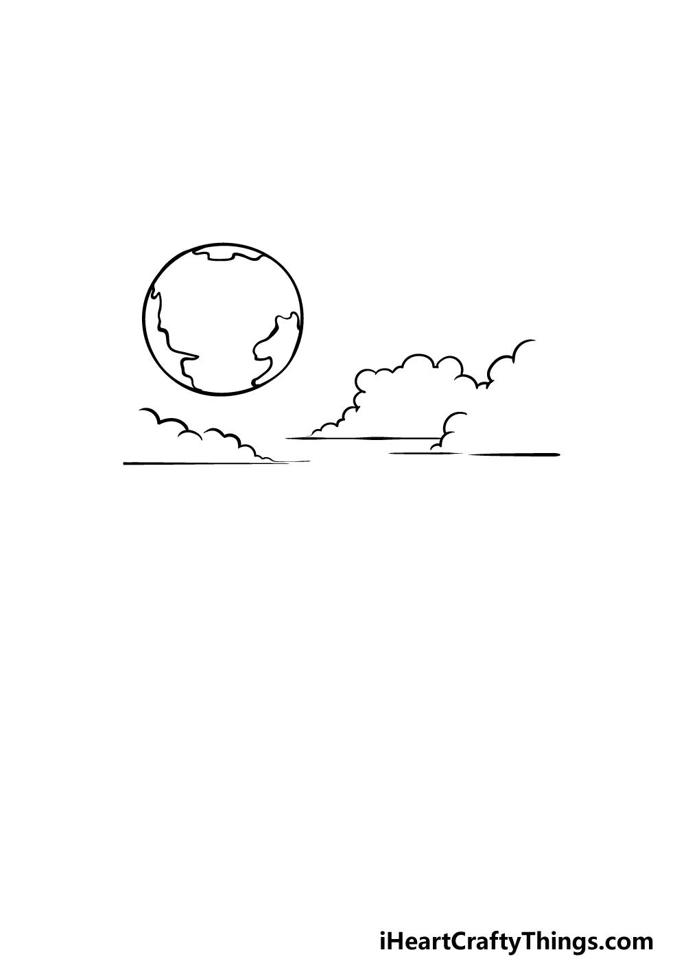 drawing sky step 2