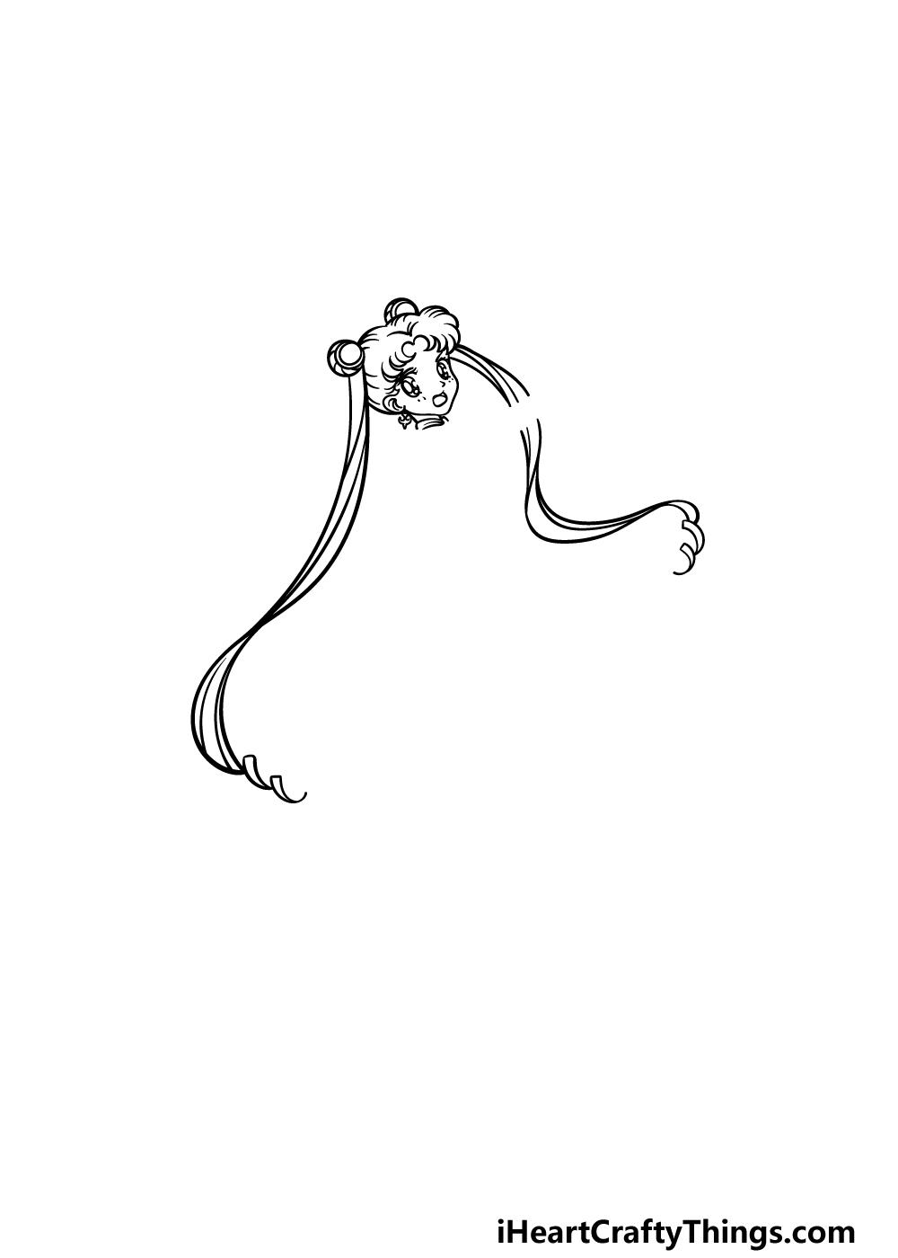 drawing Sailor Moon step 2