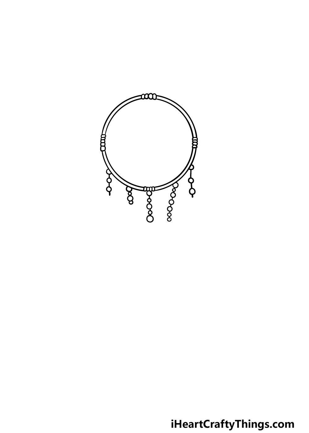 drawing dream catcher step 2