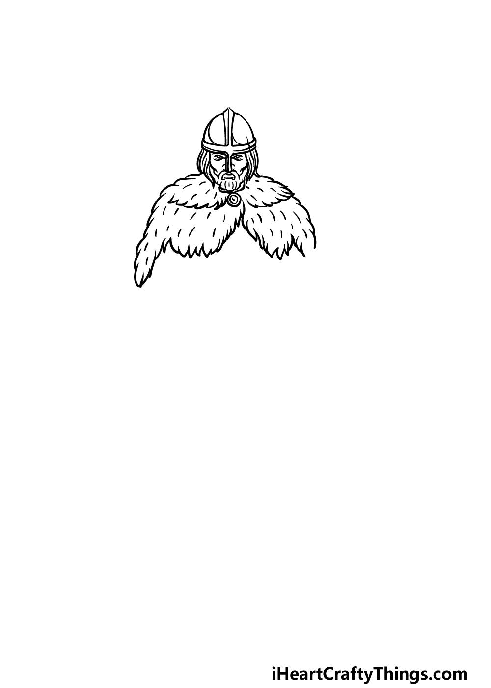 drawing a viking step 2