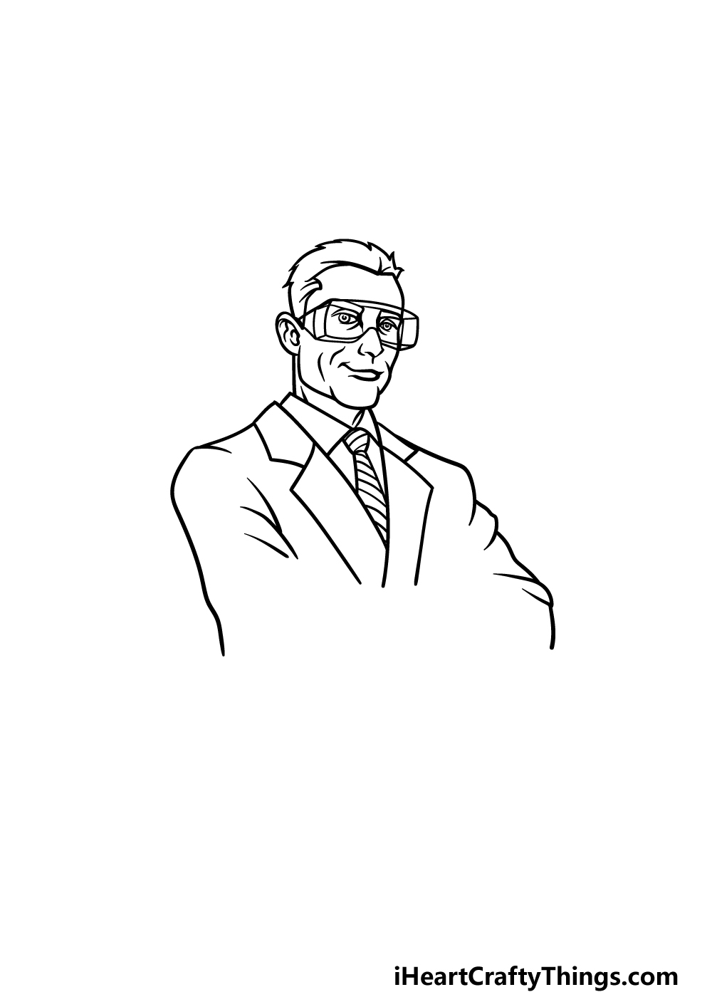 drawing a scientist step 2