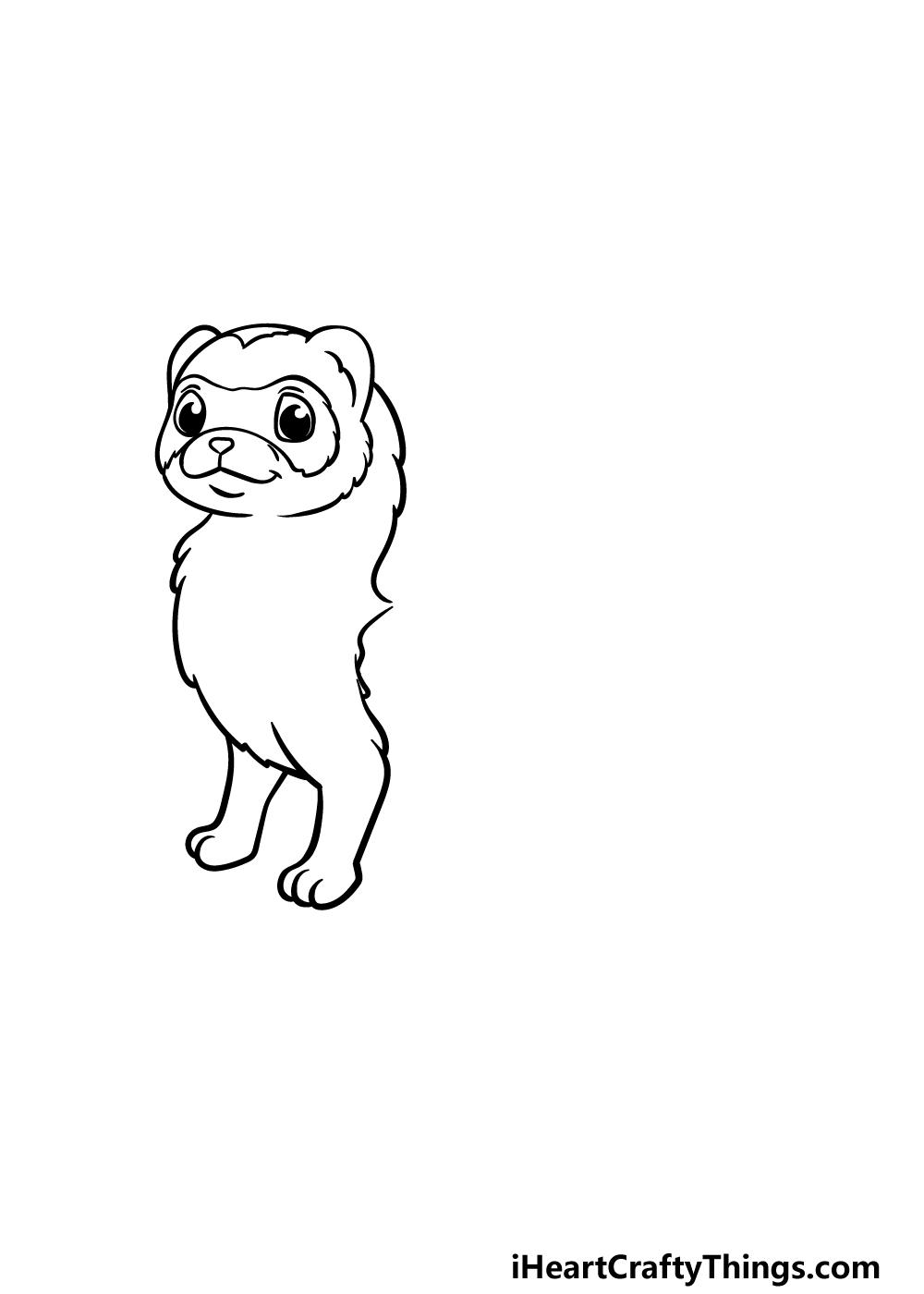 drawing a ferret step 2
