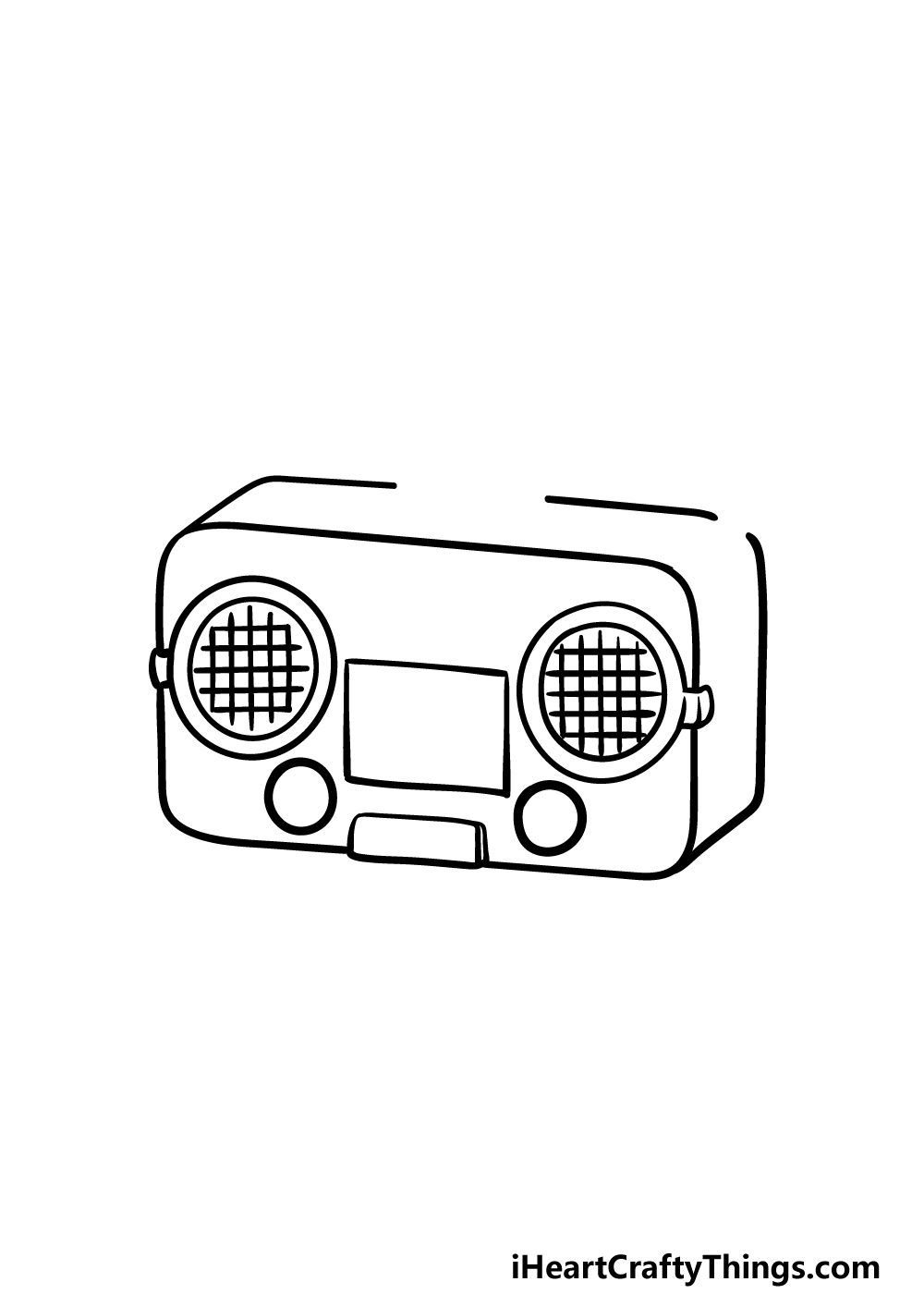 drawing a radio step 2