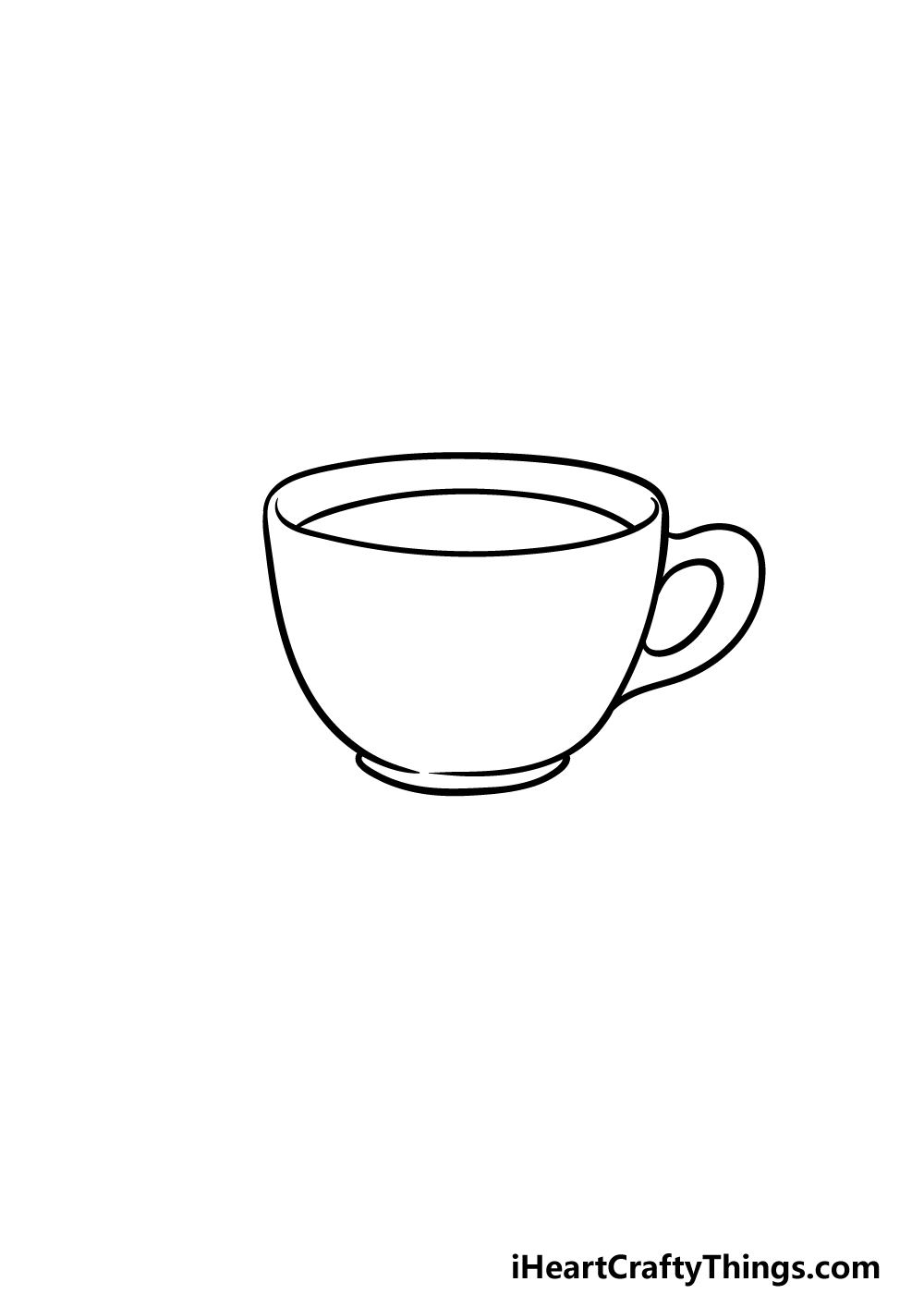 drawing a tea cup step 2