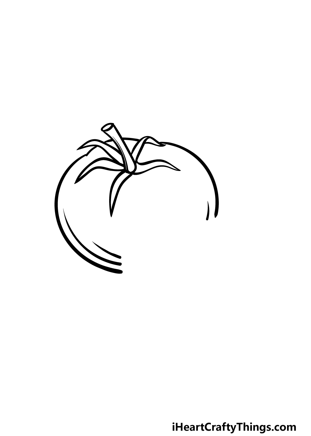 drawing a tomato step 2