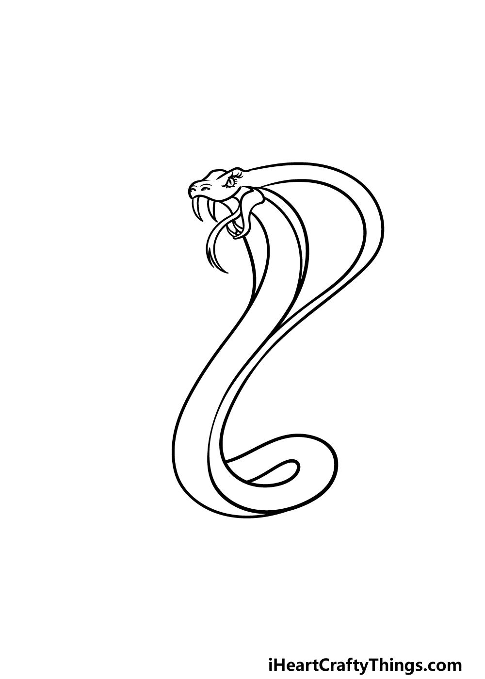 drawing cobra step 2