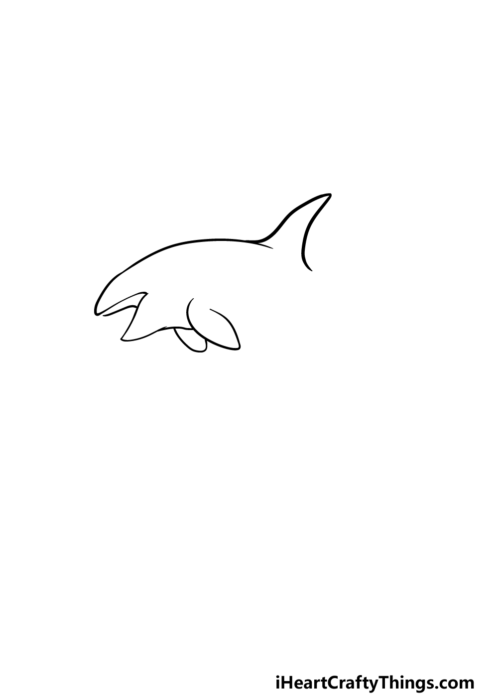 drawing an orca step 2